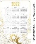 calendar for 2022 with... | Shutterstock .eps vector #1975282106