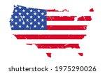 map of american flag grunge... | Shutterstock .eps vector #1975290026