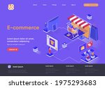 e commerce isometric landing... | Shutterstock .eps vector #1975293683