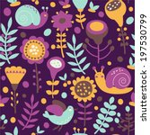 floral seamless pattern.... | Shutterstock .eps vector #197530799