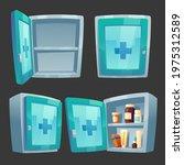 first aid kit  medicine box... | Shutterstock .eps vector #1975312589