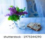 Purple Beautiful Lilacs In A...