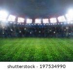 green soccer stadium ... | Shutterstock . vector #197534990