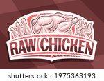 vector logo for raw chicken ... | Shutterstock .eps vector #1975363193