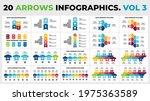 20 arrows vector infographic.... | Shutterstock .eps vector #1975363589