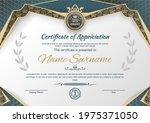 white black certificate and...   Shutterstock .eps vector #1975371050