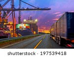 truck transport container on... | Shutterstock . vector #197539418