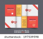 tri fold brochure and catalog... | Shutterstock .eps vector #197539598