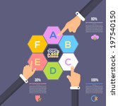 flat infographics template and