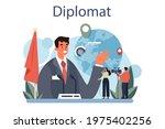 diplomat profession. idea of... | Shutterstock .eps vector #1975402256