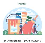 painter concept. people in the... | Shutterstock .eps vector #1975402343
