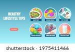 vector banner poster of healthy ... | Shutterstock .eps vector #1975411466