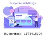 responsive web design concept.... | Shutterstock .eps vector #1975415309
