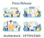 press release concept set. mass ...   Shutterstock .eps vector #1975415360