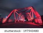 steel structure bridge close up ...   Shutterstock . vector #197543480