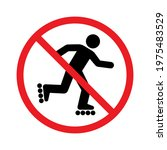 no roller skating prohibition...   Shutterstock .eps vector #1975483529