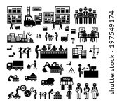 manufacturer and distributor... | Shutterstock .eps vector #197549174
