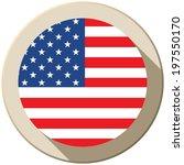 vector   usa flag button icon... | Shutterstock .eps vector #197550170