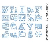 speech therapist help sketch...   Shutterstock .eps vector #1975505090