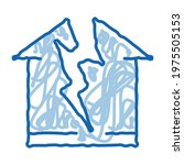 lightning destroyed house... | Shutterstock .eps vector #1975505153