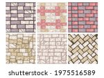 floor stone vector texture set  ... | Shutterstock .eps vector #1975516589
