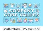 company core values word...