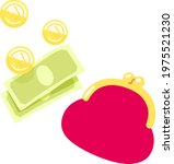 simple hand drawn wallet and...   Shutterstock .eps vector #1975521230