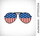 american flag sunglasses ... | Shutterstock .eps vector #1975531316