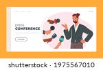 press conference landing page...   Shutterstock .eps vector #1975567010