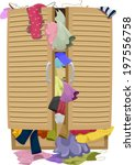 illustration of a closet... | Shutterstock .eps vector #197556758