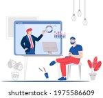 business negotiations online... | Shutterstock .eps vector #1975586609