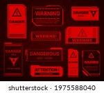 hud danger zone  warning and...