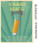 Summer Party Design Poster Or...
