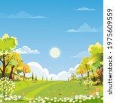 spring landscape wonderland... | Shutterstock .eps vector #1975609559