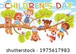 children's day. children hung... | Shutterstock .eps vector #1975617983