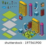 a set of cartoon urban objects... | Shutterstock .eps vector #197561900
