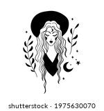mystical boho tattoo  hipster... | Shutterstock .eps vector #1975630070