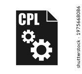 cpl black file vector icon ...