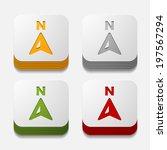 square button  compass | Shutterstock .eps vector #197567294