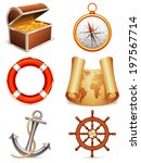 marine icons. | Shutterstock .eps vector #197567714