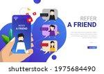 refer a friend concept  vector...
