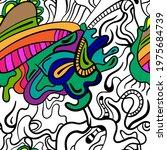 abstract unusual decorative... | Shutterstock .eps vector #1975684739