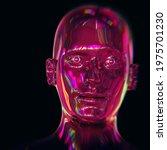 Robot Head Man Stylized...