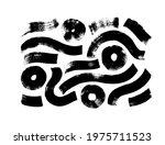black paint brush strokes... | Shutterstock .eps vector #1975711523