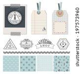 scrapbook design elements  ... | Shutterstock .eps vector #197573960