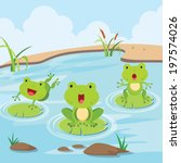 Little Frogs In The Pond. Cute...