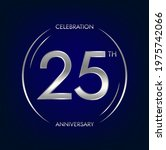 25th anniversary. twenty five... | Shutterstock .eps vector #1975742066