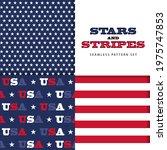 u.s. flag seamless pattern set... | Shutterstock .eps vector #1975747853