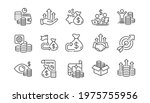 finance line icons. accounting... | Shutterstock .eps vector #1975755956