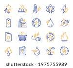 energy types line icons. coal... | Shutterstock .eps vector #1975755989